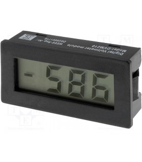 DVM210 -  Panel meter LCD 3,5 digit 10mm 0-199 VDC 24x48x15 - DVM210