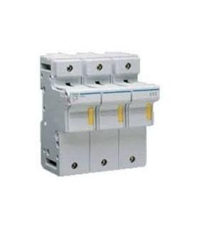 Suporte 3xFusiveis Calha DIN, 14x51mm, LR603, máx.50A, 690V~ - 1921LR603