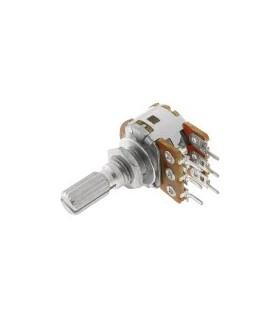 Potenciometro Rotativo C/Veio Duplo 50K OHM - 162050KD