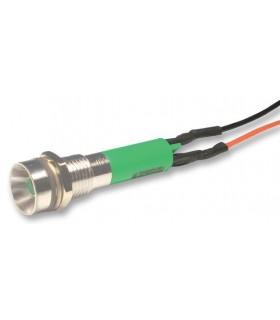 NLD29W903550500  LED Painel Ø8mm Verde 24V,17 mA, IP67 - 1248G24