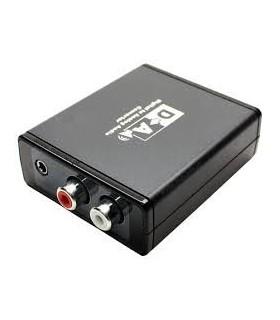 Conversor de áudio digital SPDIF e óptico - analógico - MX0470947