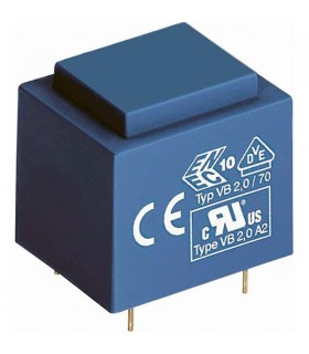Transformador 220V, 0-12-0-12V, 1.5VA para Circuito Impress - T2012D1.5CI