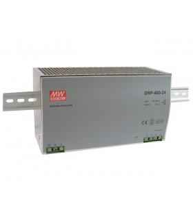 DRP-480-24 - Inp. 180-264Vac Out. 24Vdc 20A 480W de Calha - DRP-480-24
