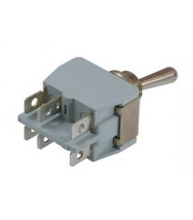 Interruptor Grande Alavanca DPDT, 15A, 250V. On-OFF-(ON) - 648H2