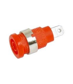 Alveolo Painel 4mm - 10A/250VAC - Vermelho - AP4R