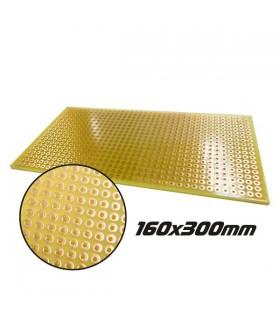 Placa Perfurada Pontos  160x300x1.6mm - 2.54mm - CD20