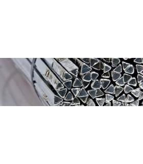 Solda em barra, triangular, Sn99.3Cu0.7 - 8/10 x 400mm