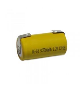 SMALLCCP - Pilha 1.2V SubC NiCd Com Patilhas, 3300mAh - SMALLCCP3A