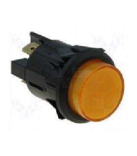 Interruptor de Pressao Grande Redondo Laranja - 914IPRO