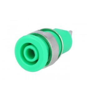 Alveolo Painel 4mm - 10A/250VAC - Verde - AP4G