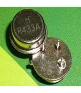 Cristal Redondo 433.92Mhz de 3pinos - C43392