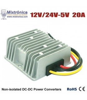 Conversor 12/24Vdc para 5Vdc - 100W - DCDC2