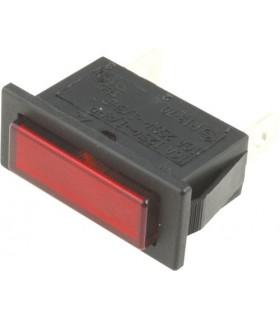 Sinalizador Rectangular Vermelho 30.4x11.2mm - SNR