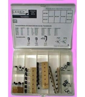 C-9410 - Caixa Com 105 Transistores - C-9410