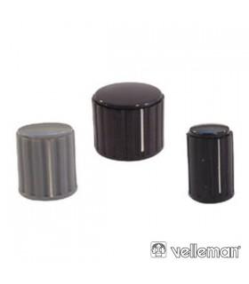 KN103GS - Botao Cinza Com Linha Branca 10x16mm - KN103GS
