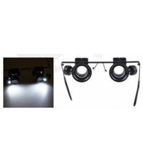 LUPA202A - Oculos Com Lupa 20x e 2 Leds Brancos - LUPA202A