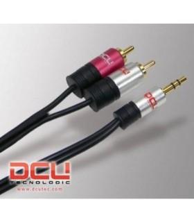DCU30701260 - Cabo Audio 3.5 St M / 2 RCA M 10mt Profiss - DCU30701260