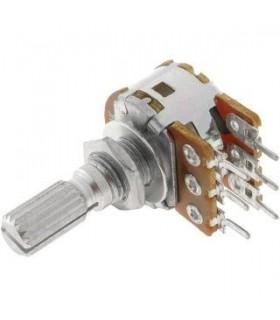 Potenciometro 10K Duplo Metalico - 162010KDM