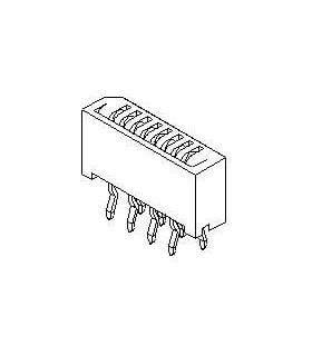 52806-1410 - Conectores FFC e FPC 1MM FFC/FPC CONN 14CKT - 52806-1410