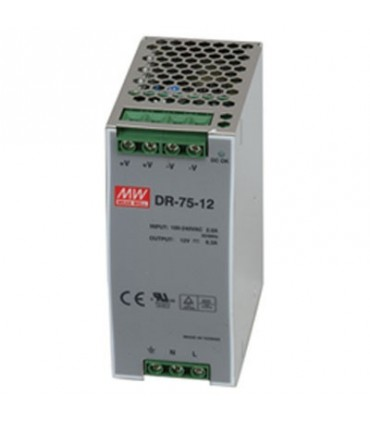 Input 85-264 VAC Output 12VDC 6.3A 76W - DR7512