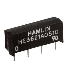 HE3621A0510 - Reed Relay, SPST-NO, 5 VDC, 500 ohm, 500 mA - HE3621A0510