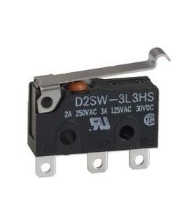 D2SW-3L3T - Microswitch Spdt 3A Com Patilha - D2SW-3L3T