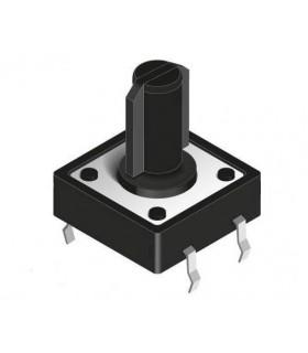 Pulsador CI, 12x12x(12)mm, 4 pinos - SW084