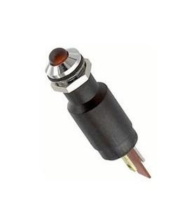 Sinalizador 230VAC Led 8mm Vermelho - 19510430