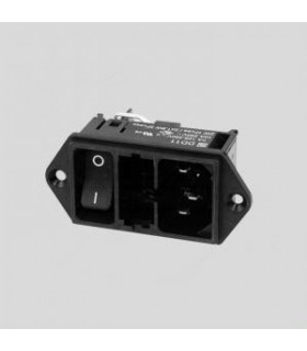 DD1101211111 - Inlet C14 4.8x0.8mm 10A/250VAC - DD1101211111