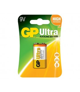 Pilha Alcalina 9V GP Ultra - GP1604AU