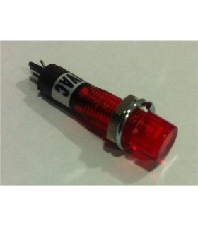 Indicador com lâmpada de neon vermelho 230VAC Ø10mm - MIX017-0247