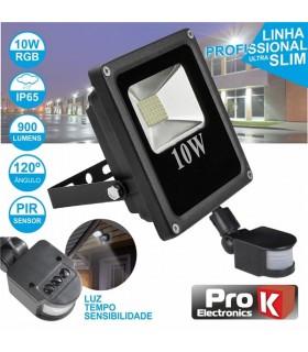 Foco LED 10W 230V Com Sensor Movimento 900lm Branco Frio - FPLE10CWKS