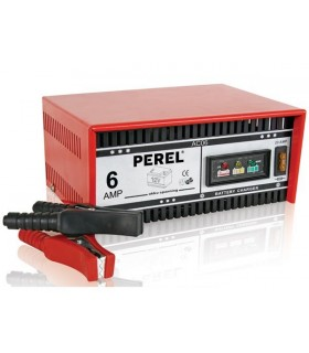 Carregador Baterias Chumbo Perel AC06 12V 6A - MXAC06