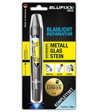 BLUFIXX MGS Cola Reparadora Metal, Vidro e Pedra - BLUFIXXMGS