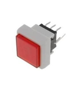 PB6133FAL - Interruptor DPDT 0.1A 30VDC Led Vermelho - PB6133FAL
