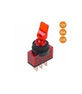 Interruptor Alavanca Luminoso Vermelho - ITR110R