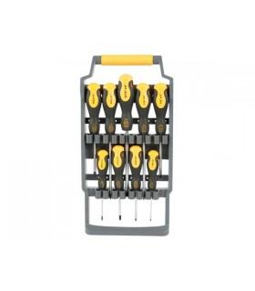 Conjunto de Chaves de Fendas e Philips Com 9 Unidades - HSET07