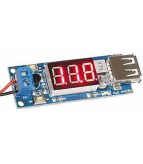 Carregador Usb Com Display IN 4.5-40Vdc Out 5Vdc 2Amp - USBCHARGER405A