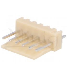 Ficha Pin Socket Macho 7 Pinos Circuito Impresso - 69PS7MCI