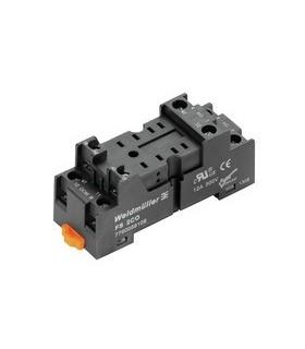 Base para Rele Weidmuller 8 pinos Calha DIN - W7760056106