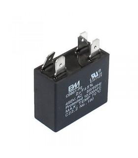 CBB61 - Condensador Filtragem 2uF 450VAC c/ Pinos - CBB612UCP