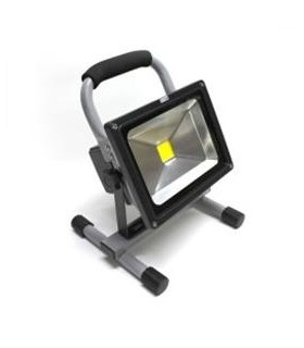 Projector Led 10W Branco Frio com Bateria - LED10WBAT