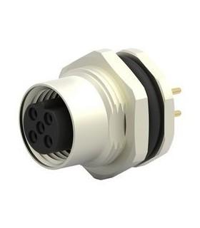 T4141012051000 - Ficha Sensor M12 Femea 5 pinos Painel - T4141012051000