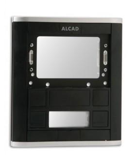 Placa de rua com 1 pulsador duplo e janela para módulo - PPD-52101