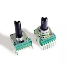 P140KV1-F20AR50K - Potênciometro Rotativo 14mm 50k 7+2 Pinos - P140KV1