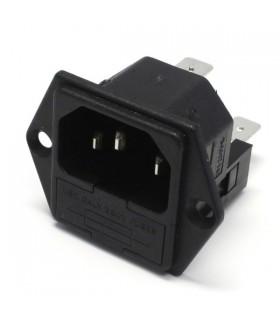 Conector Alimentação Tomada Macho 10A 250Vac - PF003063