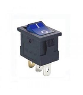 Interruptor Basculante 1 Circuito 15A 12V Azul Luminoso - MX51724