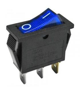 Interruptor Basculante 1 Circuito 10A 250V Azul Luminoso - MX5170410