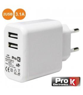 Alimentador Compacto 2 USB 5V 3.1A - ACUSB231A