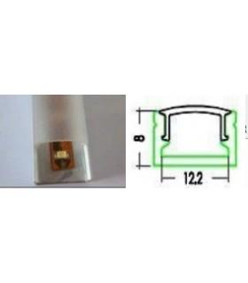 Perfil Aluminio RLS004 Transparente - LL777/7TP